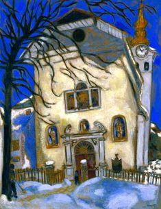 Snow-covered Church, 1927  Marc Chagall