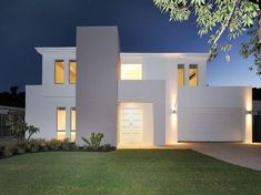 Photo of a concrete house exterior from the realestate.com.au Home Ideas Facades image galleries - House Facade photo 1347181. Browse hundreds of concrete facade designs from Australian homes on Home Ideas.