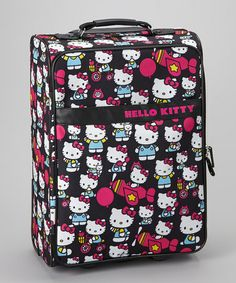 Take a look at this Black Hello Kitty Rolling Carry-On by Hello Kitty on #zulily today!