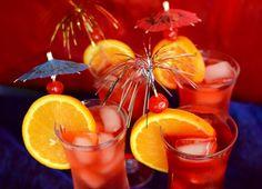 Hurricane  party drink garnishes