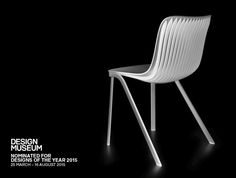 #Dragonfly is an asymmetric plastic chair inspired by insect. The engineering process has led to a U-shaped hidden element under the seat that increases the structural integrity. In 2014 Adi Design Index Selection was assigned to the Dragonfly chair, and one year later it was nominated in Designs of the Year 2015.