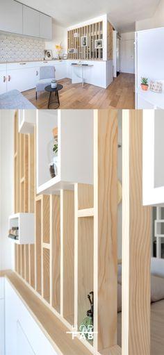 Custom-made solid wood screen Home Decor Kitchen, House Design, Home, Interior Design Kitchen, New Homes, Home Deco, Interior Design Living Room, Interior Design Bedroom, Living Room Designs