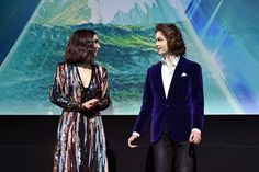 Rowan Blanchard Levi Miller Photos - Actors Rowan Blanchard (L) and Levi Miller speak onstage at the world premiere of Disney?s 'A Wrinkle in Time' at the El Capitan Theatre in Hollywood CA, March 26, 2018. - Rowan Blanchard and Levi Miller Photos - 8 of 15