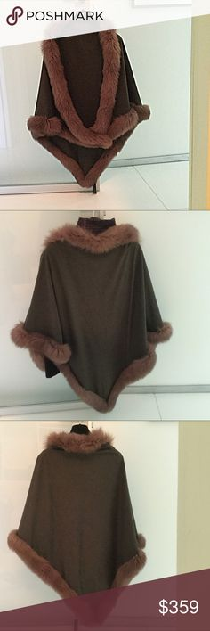 "😳SALE! 🤗 Couture brown coat-cape suede w/red fox Vintage Tarja Niskanen cape. ""L.A Times says it all"" Ask before your buy!  Sorry 😤No Returns NO EXCUSES i.e not as described, wasn't as I expect it, it smells, wrong color? Come on! It is a $1,200 Couture cape. THANKS 🙏🏻 tarja niskanen Jackets & Coats Capes"