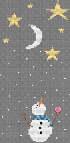 Cute Snowman Cross Stitch Pattern by ImaginationAdmin on etsy www.etsy.com/shop/ImaginationAdmin