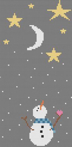 Cute Snowman Cross Stitch Pattern by ImaginationAdmin on etsy www.etsy.com/shop/ImaginationAdmin