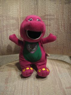"""This is a Barney Plush I got that sings Barney's """"I Love You"""" Song! I got it for my friend, Mark's great-nephew, Winnie! :)"""