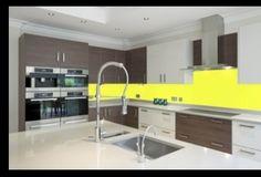 Yellow splashback kitchen, colour ideas