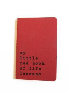 Hand printed MOLESKINE® notebook 'my little red book by Alfamarama