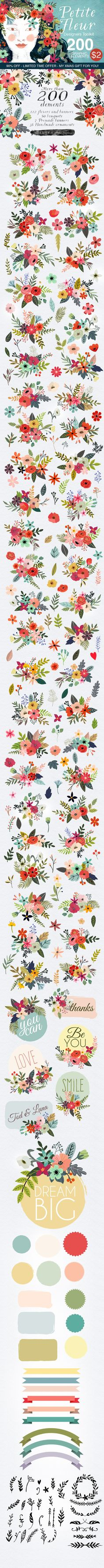 Adorable Floral Clip Art... and what a deal! More