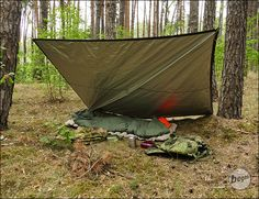 BE-X FronTier One Rugged Reflective Bivy Tarp - OD green