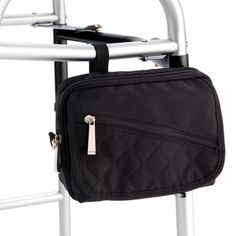 Juvo Products WB201 Personal Walker Tote, Black by Juvo. $17.17. Available in sport,fashion ? black, red, tan? or craft styles. Dimensions: 6? h x 8? w x 2.5? d; vertical strap adjusts up to 6?; horizontal straps adjust up to 7?. Sport version has two quick-access vertical pockets on front panel and two large zippered compartments. Universal fit connects to walker in seconds. Shoulder strap included; can be converted to a purse instantaneously when used away from walke...