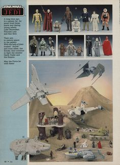 Star Wars: Return of the Jedi Toys in the Montgomery Ward Christmas Catalog, 1984