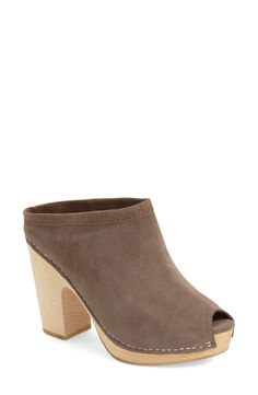 Free shipping and returns on Jeffrey Campbell 'Freja' Platform Mule (Women) at Nordstrom.com. A wooden platform extends the old-school appeal of a clog-inspired peep-toe mule shaped from smooth suede.