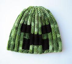 Minecraft Creeper Hat, Minecraft Beanie by OverTheAppleTree on Etsy
