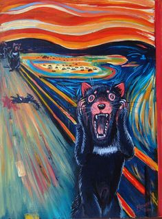 the scream painting parody - Google Search