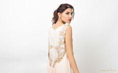 b051f8c0f67733 Jasmine Bains Powder pink fully embroidered silk georgette gown banner