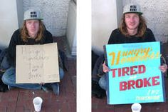 Rethink Homelessness - In an effort to dispel harsh and unproductive stereotypes, Rethink Homelessness has launched Cardboard Stories. Taking the common signage often use...