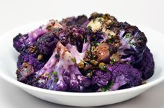 Pizzeria Delfina's Spicy Cauliflower - Nom Nom Paleo® Purple Cauliflower, Spicy Cauliflower, Cauliflower Recipes, Primal Recipes, Real Food Recipes, Healthy Recipes, Healthy Food, Paleo Side Dishes, Nom Nom Paleo