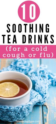 Nothing like a hot cup of tea when you're feeling sick. Here are the best soothing tea recipes for colds, coughs, and flu to whip up next time you're feeling sick. Tea Benefits, Feeling Sick, How To Make Tea, Tea Recipes, Flu, Drinking Tea, Tea Cups, Breakfast, Healthy