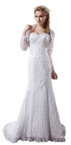 Herafa Long sleeve A-Line Wedding Dress Sweep Length Train Delicate Beading White Size:14 herafa,http://www.amazon.com/dp/B00BQ2VPQ4/ref=cm_sw_r_pi_dp_cB5xrb3C18724F9A