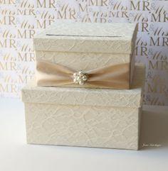 Wedding Card Box Money Box Card by jamiekimdesigns
