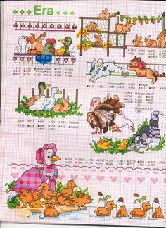 Various animal motifs Cross Stitch Boards, Mini Cross Stitch, Cross Stitch Animals, Funny Cross Stitch Patterns, Blackwork Patterns, Farm Yard, Coq, Stuffed Animal Patterns, Cross Stitching