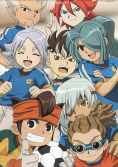 Inazuma Eleven - so much of my favorites in one picca <3 (Only one I don't like is Mark)