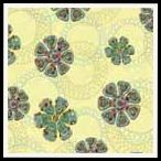 free hippy flower backing paper pack