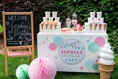 Ice Cream 1st Birthday Party via Kara's Party Ideas | KarasPartyIdeas.com (27)