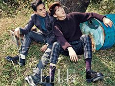 Song Min Ho and Lee Seung Hoon Winner - Elle Magazine November Issue '14