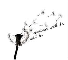"""Dandelion Tattoo ... i love this so much.. but instead i want it to say """"i wished for you"""""""