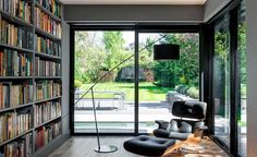 Some great dark and dramatic decorating ideas via Real Homes