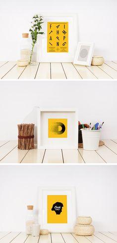 Photo Frame Mockup Templates - download freebie by PixelBuddha