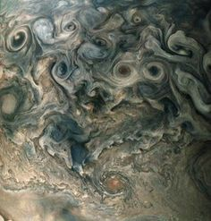 An image of the North polar region of Jupiter.
