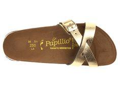 Birkenstock Catania by Papillio Metallic Gold Leather - Zappos.com Free Shipping BOTH Ways