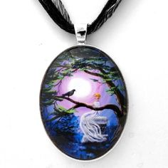 Lenore with Raven By a Cypress Tree Handmade Jewelry Fine Art Pendant Laura Milnor Iverson,http://www.amazon.com/dp/B00ECJIR96/ref=cm_sw_r_pi_dp_DUeasb0M5EAGNMS0  $28.99