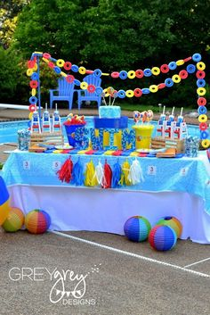 GreyGrey Designs: {My Parties} Summer Pool Party by GreyGrey Designs and Birthday Express