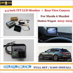 """Auto Rear View Camera Back Up + 4.3"""" LCD Monitor = 2 in 1 Parking Assistance System - For Mazda 6 Mazda6 Station Wagon 2013~2015"""