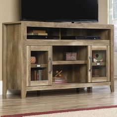 Dakota Pass Entertainment Credenza in Craftsman Oak | Nebraska Furniture Mart