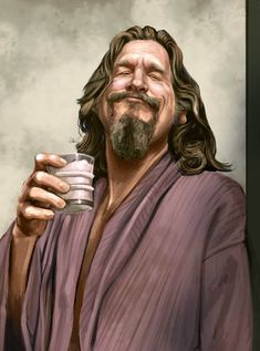 The Dude (The Big Lebowski) Movies Caricatures on Behance