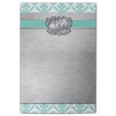 Aqua & Silver Elegant Wedding Pad