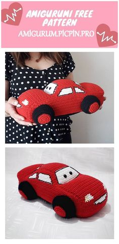 We continue to provide you with the latest recipes related to Amigurumi. Amigurumi classic car free crochet pattern is waiting for you. Crochet Hippo, Crochet Dolls, Crochet Baby, Free Crochet, Crochet Amigurumi Free Patterns, Knitting Patterns, Crochet Crafts, Crochet Projects, Zipper Tutorial