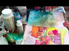 Love this technique.    Vlog & Wax Paper Resist Part 1