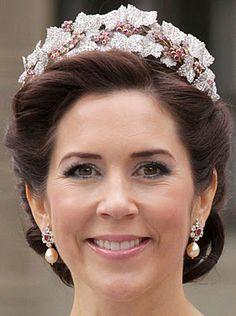 Tiara Mania: Ruby Parure Tiara worn by Crown Princess Mary of Denmark
