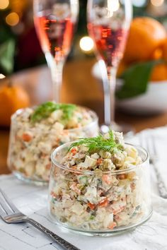 "Russian Monday: Salad ""Olivier"" - Potato Salad at Cooking Melangery #Russian_food, #salad, #olivier"