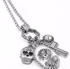 Day of the Dead Necklace - Dia de los Muertos - Sugar Skull Necklace - Pendant - Blackberry Designs Jewelry