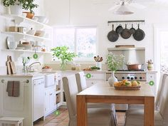 7 Ways to Warm Up a White Kitchen - Kitchen Decorating Ideas - Country Living