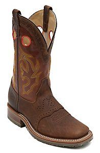 Double H® ICE Collection™ Men's Peanut Bison Square Steel Toe Roper Work Boot