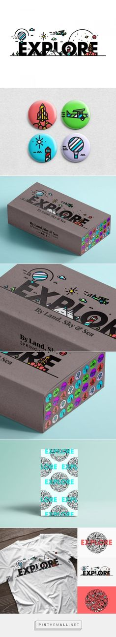 Graphic design, illustration and packaging by E-X-P-L-O-R-E on Behance curated by Packaging Diva PD. Series illustrates how important it is to explore the world, whilst you have the opportunity too. Life moves extremely fast, enjoy it!